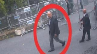 Хашоггі на кадрі з камер відеоспостереження