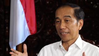 Presiden Joko Widodo dalam wawancara eksklusif dengan BBC