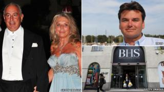 Philip and Tina Green, Dominic Chappell, BHS head office
