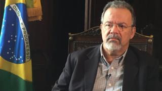 Ministro da Defesa, Raul Jungmann, em entrevista à BBC Brasil