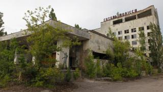Çernobil patlamasında zarar gören bir otel