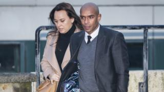 Trevor Sinclair arriving at court (from a previous appearance)