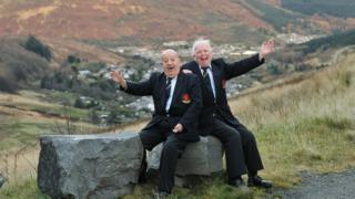 Still singing after 70 years - Islwyn Morgan, left, and Norman Martin