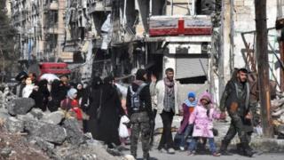 Мешканці Алеппо