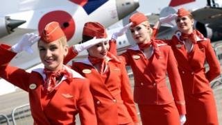 Aeroflot attendees