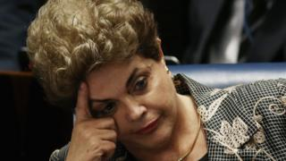Dilma Rousseff au Sénat à Brazilia lors du procès pour sa destitution le 29 août 2016.