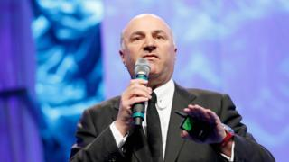 Businessman Kevin O'Leary speaks onstage during a conference