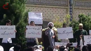احتجاجات في مدينة مشهد السبت