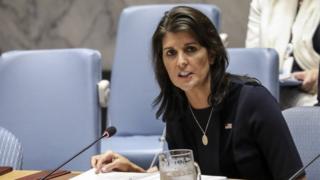 Никки Хейли в ООН 17.09.2018