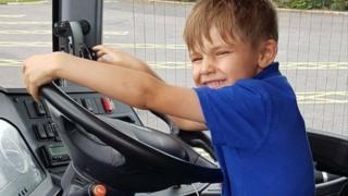 Five-year-old Alex Clarke