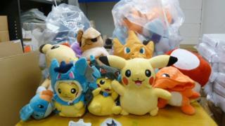 Fake cuddly toys