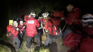 Snowdonia rescue as unconscious man carried off Cader Idris