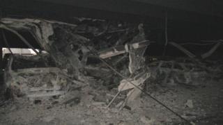 Car collapses through ceiling