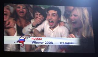 Screen grab of 2008 winner