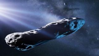 Ilustración artística de Oumuamua