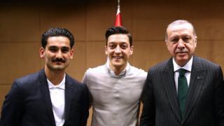 İlkay Gündoğan, Mesut Özil, Cumhurbaşkanı Erdoğan