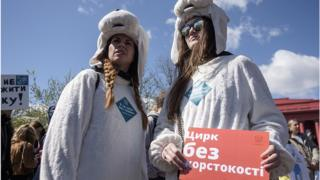 Під час акції активісти, посилаючись на дані різноманітних опитувань населення, наполягали, що українці вже готові до такої заборони.