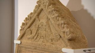 Roman tombstone in the Corinium Museum