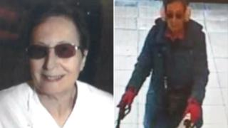 Cathryn Holdsworth, left, and the CCTV image