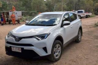 The German tourists car was found 70km from Alice Springs
