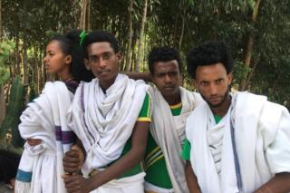 Teenagers in Adi Qeyih in northern Ethiopia's northern highlands on Wednesday 28 November 2018