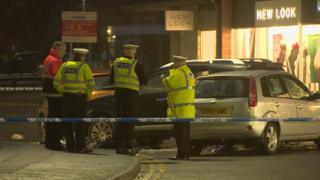Inverurie crash scene
