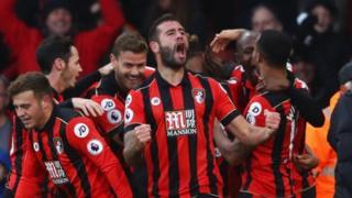 Bournemouth ayaa 4-3 kaga adkaatay Liverpool