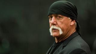 Former professional wrestler Hulk Hogan arrives in the courtroom on 16 March