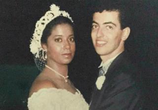 Mónica el día de su boda