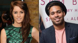 Lucie Jones and Danyl Johnson