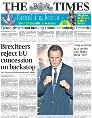 Times front page, 5/2/19