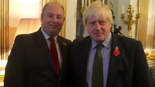 David Mackintosh and Boris Johnson