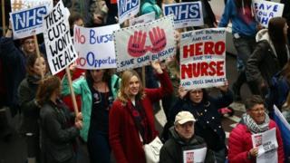 nurses protesting about bursaries