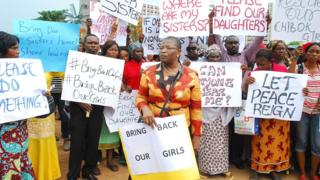 Families of the girls who went missing have continued to campaign for their freedom