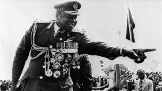 General Idi Amin in his military uniform and medals