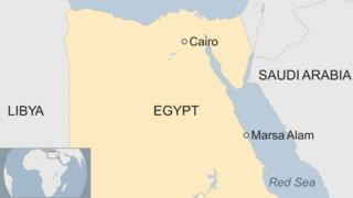 A map showing where Marsa Alam is in Egypt