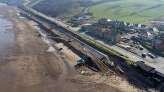 The work on the A174 at Sandsend