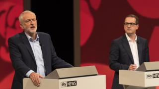 Jeremy Corbyn (left) and Owen Smith