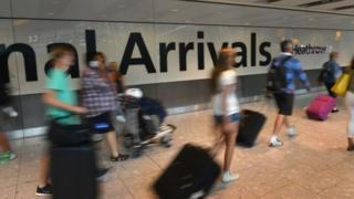 Heathrow Airport arrivals