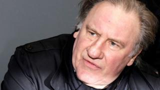 Actor Gerard Depardieu poses during Paris Book Fair 2018