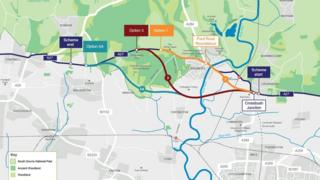 A27 proposed routes
