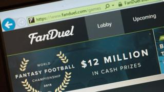 FanDuel website in 2015