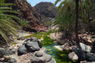 Wadi Dirhur canyon on Socotra