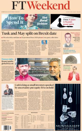 FT Weekend front page, 6/4/19