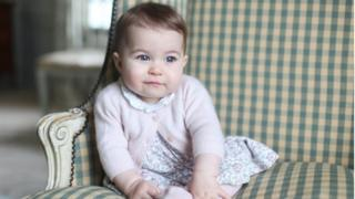 Princess Charlotte at 6 months old