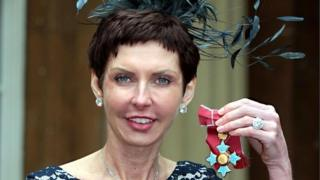 Denise Coates with her CBE