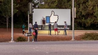 Facebook sign outside HQ