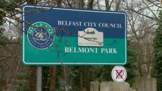 Belmont Park sign