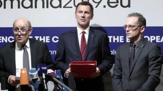 وزیران خارجه قدرتهای اروپایی