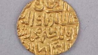 One of the gold coins
